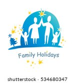 family holidays concept vector... | Shutterstock .eps vector #534680347