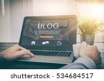 blogging blog word coder coding ... | Shutterstock . vector #534684517