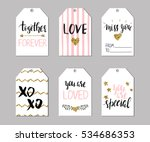 six valentine's day festive... | Shutterstock .eps vector #534686353