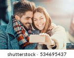 happy moments together.young... | Shutterstock . vector #534695437