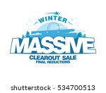massive winter clearout sale... | Shutterstock .eps vector #534700513