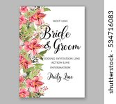 alstroemeria wedding invitation ... | Shutterstock .eps vector #534716083