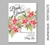 alstroemeria wedding invitation ...