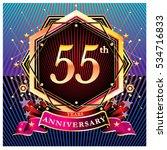 55 years golden anniversary... | Shutterstock .eps vector #534716833