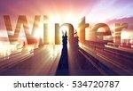 mysterious winter landscape... | Shutterstock . vector #534720787
