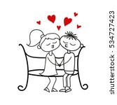 boy and girl. love. valentine's ... | Shutterstock .eps vector #534727423