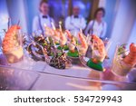 beautifully decorated catering... | Shutterstock . vector #534729943