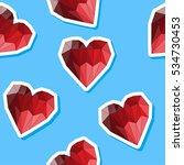 polygonal heart. love  wedding...   Shutterstock .eps vector #534730453