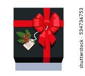 black wrapped gift box... | Shutterstock .eps vector #534736753