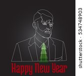man happy new year and the... | Shutterstock . vector #534748903
