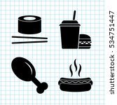 food   vector icon  set   leg ... | Shutterstock .eps vector #534751447
