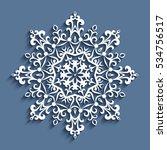 cutout paper lace doily ... | Shutterstock .eps vector #534756517
