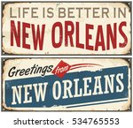new orleans florida retro tin... | Shutterstock .eps vector #534765553