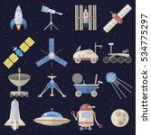cosmos space icons vector set... | Shutterstock .eps vector #534775297