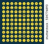 set of yellow emoticons  icon... | Shutterstock .eps vector #534776893