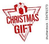 christmas gift grunge rubber...   Shutterstock .eps vector #534781573