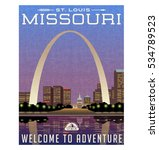 missouri  united states travel... | Shutterstock .eps vector #534789523