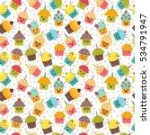 birthday background. kawaii...   Shutterstock .eps vector #534791947