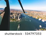 Aerial View Of Lower Manhattan...