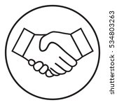 handshake line icon | Shutterstock .eps vector #534803263