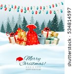 holiday christmas background... | Shutterstock .eps vector #534814597