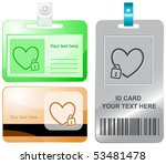 closed heart. vector id cards.   Shutterstock .eps vector #53481478