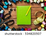 bright image of sewing kit... | Shutterstock . vector #534820507