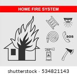 home fire system | Shutterstock .eps vector #534821143