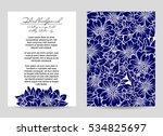 romantic invitation. wedding ... | Shutterstock . vector #534825697