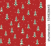 seamless christmas pattern with ... | Shutterstock .eps vector #534828643