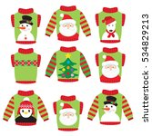 christmas ugly sweater vector... | Shutterstock .eps vector #534829213