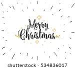merry christmas text design.... | Shutterstock .eps vector #534836017
