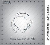 circular arrows vector icon | Shutterstock .eps vector #534852553