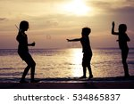 happy children playing on the... | Shutterstock . vector #534865837