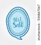 best sale doodle speech bubble | Shutterstock .eps vector #534867067