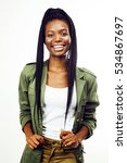young pretty african american... | Shutterstock . vector #534867697