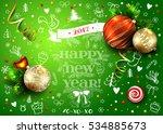 christmas green vector card...   Shutterstock .eps vector #534885673