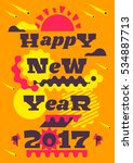 greeting card happy new year.... | Shutterstock .eps vector #534887713