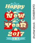 greeting card happy new year.... | Shutterstock .eps vector #534889693