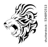 lion tattoo design. head tattoo ...   Shutterstock .eps vector #534892513