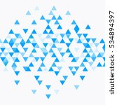Abstract Triangle Blue...