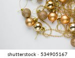 golden glitter christmas ball... | Shutterstock . vector #534905167