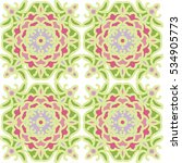 seamless pattern with floral... | Shutterstock .eps vector #534905773
