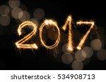 2017 written with sparkle... | Shutterstock . vector #534908713