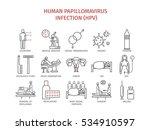 human papillomavirus infection  ... | Shutterstock .eps vector #534910597