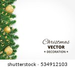 background with christmas tree... | Shutterstock .eps vector #534912103
