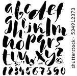 hand drawn font made by dry...   Shutterstock .eps vector #534912373