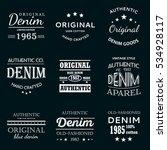 classical denim jeans... | Shutterstock .eps vector #534928117