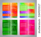 brochure design templates set...   Shutterstock .eps vector #534935317