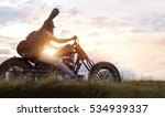 guitarist woman riding a... | Shutterstock . vector #534939337